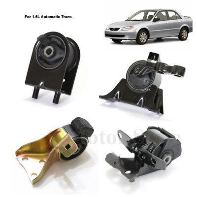 Fits 99-01 Mazda Protege 1.6L Auto Transmission Engine Motor Mount Set AT Trans
