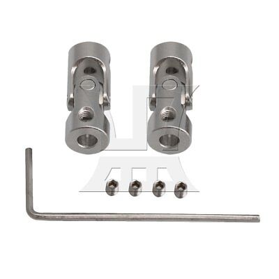Rotatable Joint Metal Coupling Connector with Screws M3 Set of 2 Silver