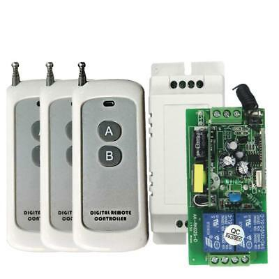 AC85-250V 433MHz commutation d'alimentation 2-way Switch + 3pcs 2 boutons de