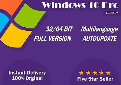 License / Licenza Microsoft Windows 10 PRO 64 - 32 BIT