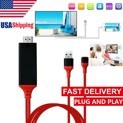 For Lightning to HDMI HDTV TV USB AV Adapter Cable for Apple iPhone iPad iOS 12