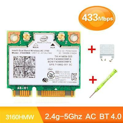 Intel 3160HMWBluetooth 40Wifi Kabellos-AC 3160 80211 Mini PCI-E WLAN-Karte_