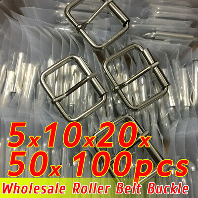 lot Mens Roller Belt Buckle Center Bar Nickel Free Single Prong Fit 38mm-42mm