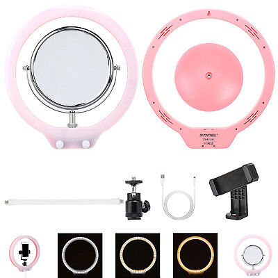 Dimmable Diva LED Selfie Ring Light Stand Youtuber Blogger Makeup Video Studio