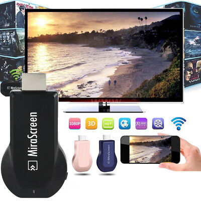 1080P HD MiraScreen WiFi Display Empfänger TV Dongle Airplay Miracast DLNA HDMI