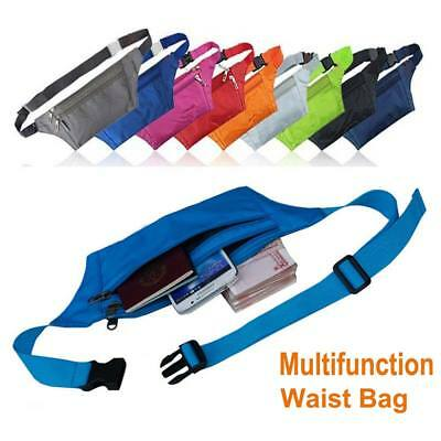 Sport Waist BUM BAG Fanny Pack Travel Hight Quality Zips Mens Ladies Unisex NEW