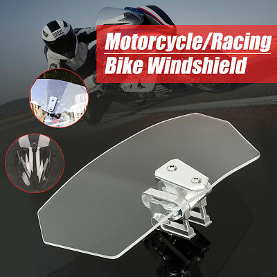 Motorcycle Clip On Windshield Wind Screen Deflector Extension Spoiler for Yamaha