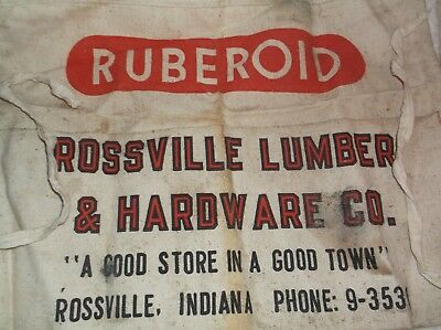vintage ROSSVILLE INDIANA Lumber and Hardware Company Apron