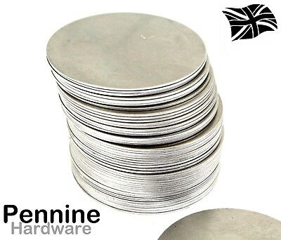 75mm Ø Mild Steel Metal Blank Round DISCS 1.2mm THICK - Flat Sheet Circle