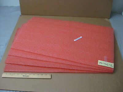 "Lot of 4 Polyethylene Foam Sheets_28"" x 16-1/2"" x 1/4"""