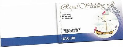 Grenadines of St Vincent 1981 Royal Wedding Booklet Complete MUH/MNH as Issued