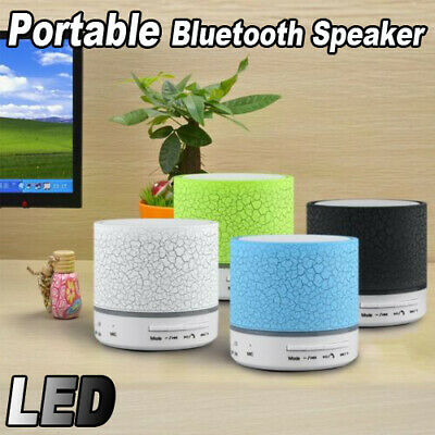 Mini Portable LED Bluetooth Speaker Wireless Stereo Bass For Smartphone PC lot