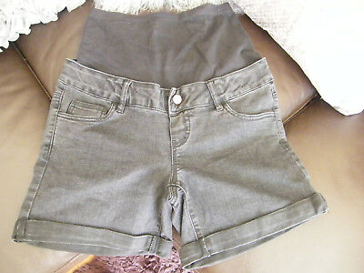 Mama-Licious Maternity Shorts Black Denim Maternity Wear Shorts Size 28 Uk 8 Vgc