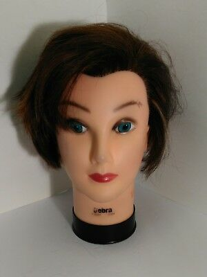 Burmax real hair Cosmetology practice mannequin head Debra made in China