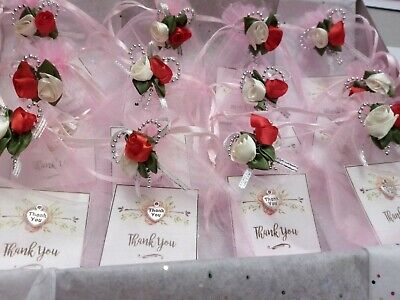 WEDDING BRIDESMAIDS or Guest SMALL THANK YOU GIFT Card Small Charm and bag
