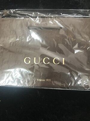 6999898caa6cf NEW GUCCI BROWN Paper Gift Bag *Brand New *Sealed In Plastic Wrapper ...