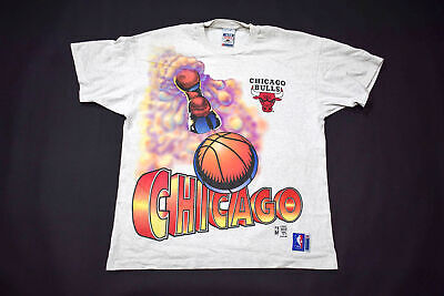 Chicago Bulls NBA Shirt Trikot Jersey Camiseta 90er 90s Fruit of Loom Graphik XL