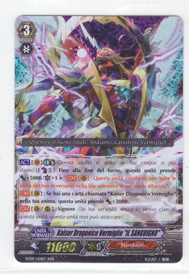 Cardfight Vanguard Kaiser Dragonico Vermiglio il Sanguigno BT09/008IT RRR