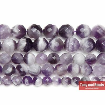 Faceted White Crystals Amethysts Quartz Round Loose Beads 4 6 8 10MM Pick Size f