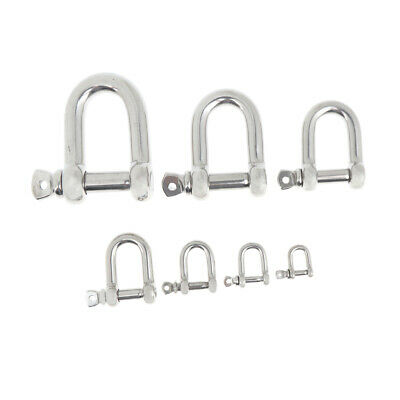 Stainless Steel D-Shackle Chain Shackle Rigging Fastener M4 M5 M6 M8
