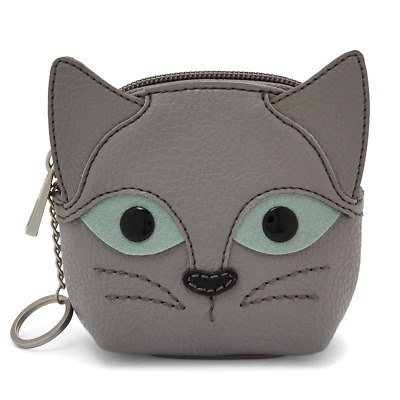 NEW RELIC by FOSSIL TAKEAWAY CAT COIN PURSE CHANGE PURSE WALLET w KEYRING $28TAG