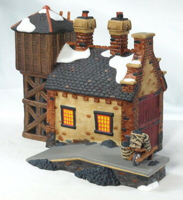 "Dept 56 Dickens Village ""the Locomotive Shed And Water Tower"" Lighted W/box"