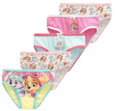 Girls Children Kids Cotton Paw Patrol Panties Underwear Undies Bottoms Briefs