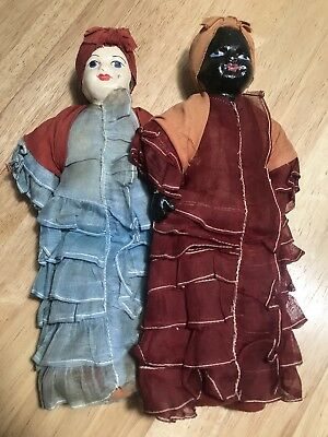 "Pair of Rare Vintage 9.5"" Composition Mammy Dolls"