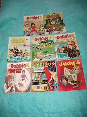 BUNTY/MANDY/JUDY/DEBBIE x 8 PICTURE STORY LIBRARY BOOKS from 1980's and 1990's