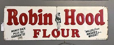 "Large ""Robin Hood Flour"" Original Tin Sign"