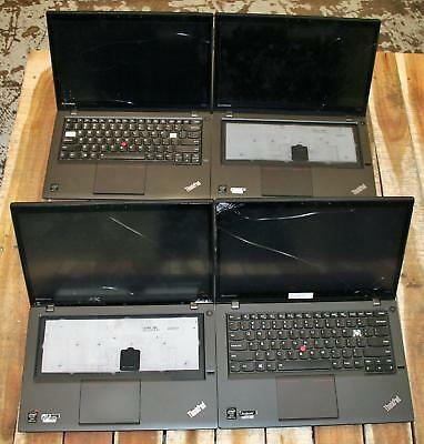 """LOT 4 Lenovo Thinkpad T440s Ultrabook 14"""" Core i7 4600u 2GHz TOUCH Laptop AS IS"""