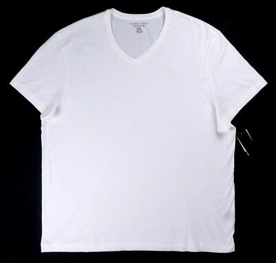 Nwt $48 The Mens Store Bloomingdale's White Basic V-Neck T-Shirt Size 2Xl