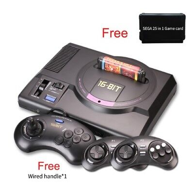 Wireless HDMI AV version for sega 16 bit TV video game with 25 games