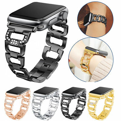 Diamonds Edelstahl Armband Strap für Apple Watch Series 4/3/2/1 40/44/38/42mm DE