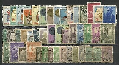 """PORTUGUESE  INDIA - 40  stamps  """"  ALL  DIFFERENT  """" ."""