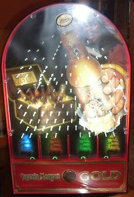 Captain Morgan Gold Rum Cannon Ball Plinko Pachinko Flashing Light Game Bar Sign