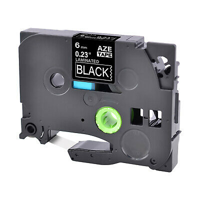 """TZ315 TZe-315 Compatible for Brother Label Tape P-Touch White on Black 6mm 1/4"""""""
