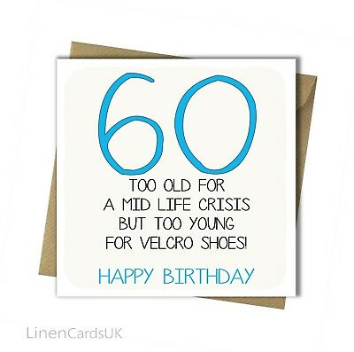 60th Birthday Card Husband Wife Sister Brother Dad Mum Friend Father