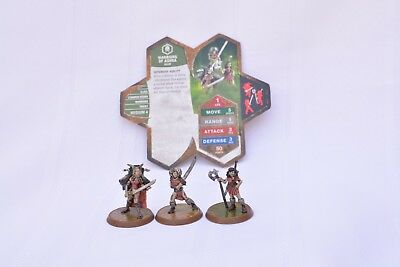 Heroscape Warriors of Ashra - 3 figures with card