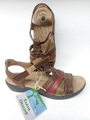 dcedc9bfdce3 NEW EARTH ORIGINS 8 M Amelie Leather Sandal Coco Multi Adjustable ...