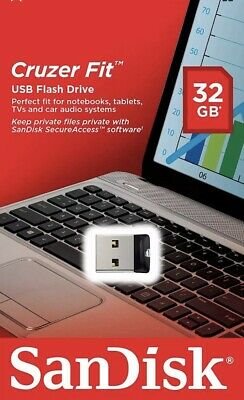 32GB Cruzer Fit  USB 2.0/3.0 Memory Flash Stick Mini Pen Drive