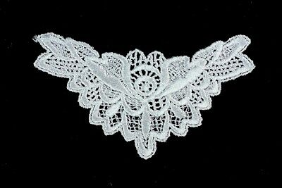 5 Pieces Guipure Lace Applique Motif Neckline Trim Patch - 14cm × 8cm