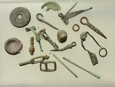 Lot of Ancient Roman Bronze Artifacts 90gm