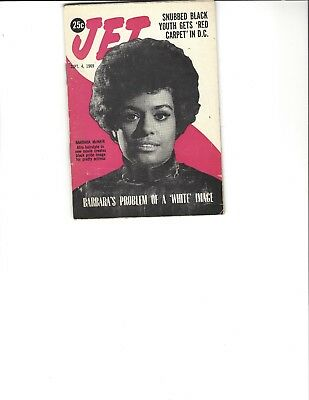 Jet Magazine Sept 4 1969 actress Barbara McNair cover