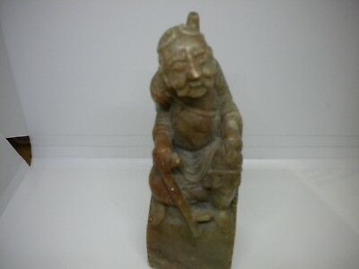 Vintage Chinese Carved Soap Stone Stamp/ Old Man With Cane