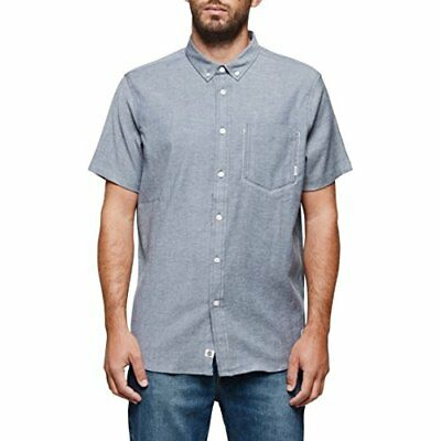 cf0c84719557 Element Men's Greene Short Sleeve Woven Shirt Eclipse Navy Size X-Large