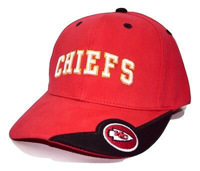 f4f751e22865e Kansas City Chiefs NFL Team Apparel Red Adjustable Football Cap Hat OSFM