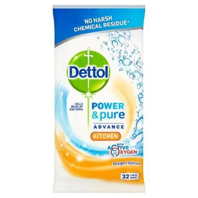 Dettol Power & Pure Multipurpose Kitchen Wipes 32 per pack