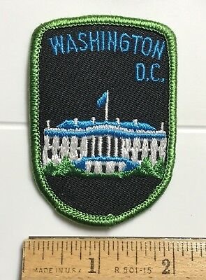Washington DC The White House Flying Flag Souvenir Embroidered Patch Badge