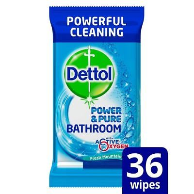 Dettol Power & Pure Bathroom Wipes 36 per pack